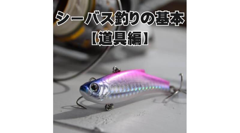 シーバス釣りの基本【道具編】